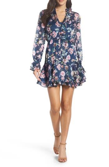 Cooper St Rita Floral Stripe Minidress, Blue