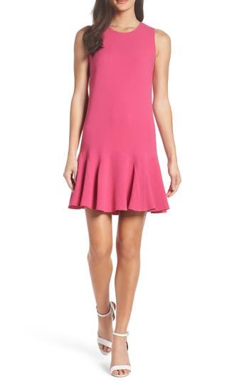 Charles Henry Gored Tank Dress, Pink
