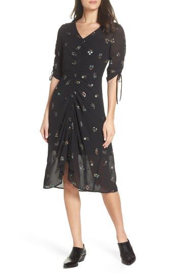 Sam Edelman Floral Midi Dress, Black