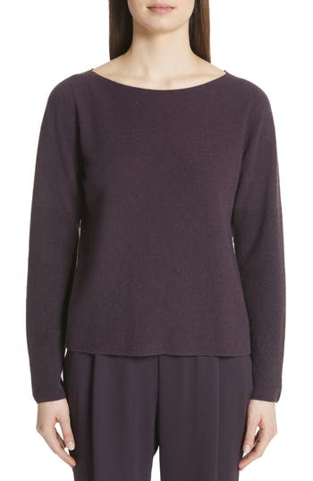 Fabiana Filippi Metallic Sleeve Merino Wool, Silk & Cashmere Sweater, 8 IT - Purple