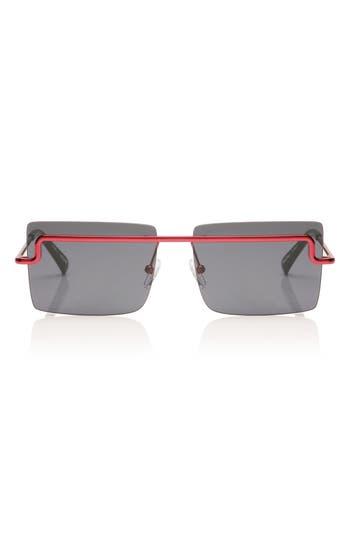 Adam Selman X Le Specs The International 5m Sunglasses - Metallic Red/ Navy Mono