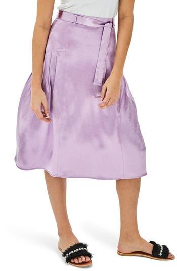 Plus Size Elvi The Proton Pleated Midi Skirt, 0W US / 24UK - Purple