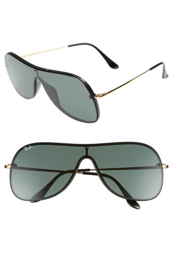 Ray-Ban Highstreet Shield Sunglasses - Black Solid
