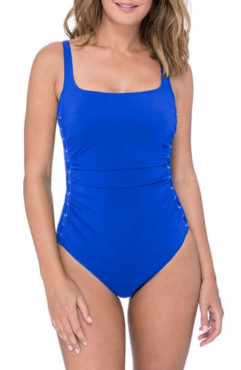 Profile By Gottex One-Piece Swimsuit, Blue