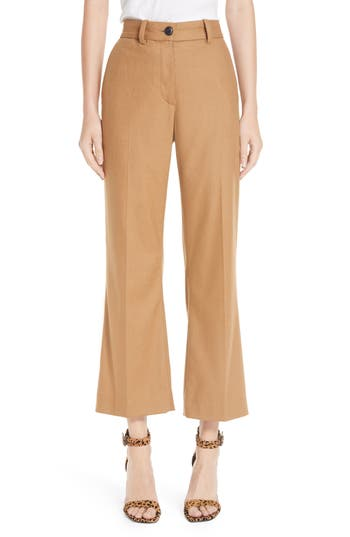 Rag & Bone Libby Crop Flare Pants, Brown