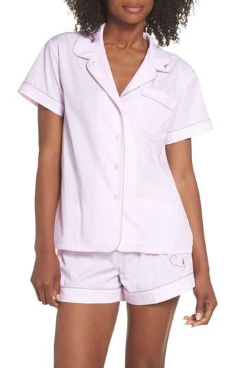 Ed Ellen Degeneres Love Heart Short Pajamas, Pink