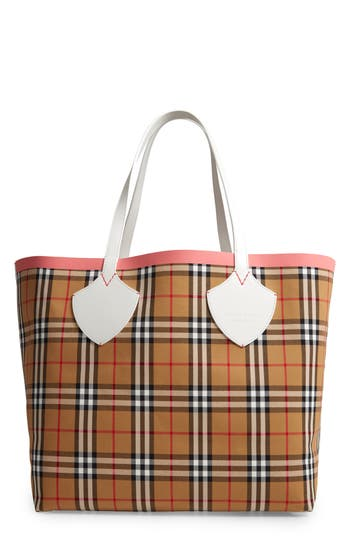 Burberry Giant Check Reversible Tote - Beige