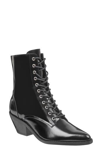 Marc Fisher Ltd Bowie Lace-Up Boot, Black
