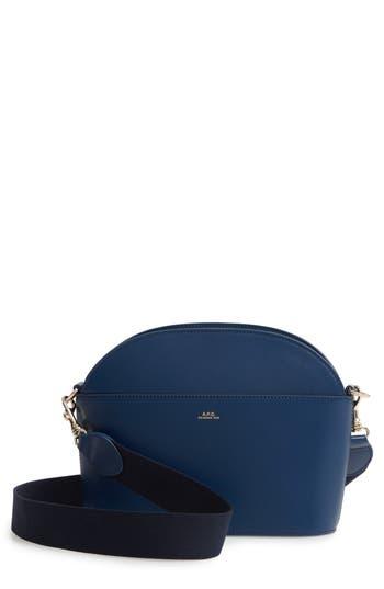 Gabrielle Leather Shoulder Bag - Blue