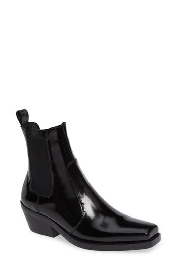 Jeffrey Campbell Poker Chelsea Boot- Black