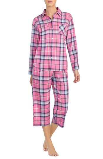 Lauren Ralph Lauren 2-Piece Plaid Pajamas, Red