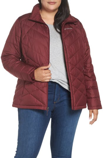 Plus Size Columbia Heavenly Water Resistant Insulated Jacket, Red