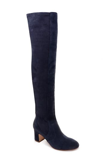 Splendid Over The Knee Stretch Back Boot- Blue
