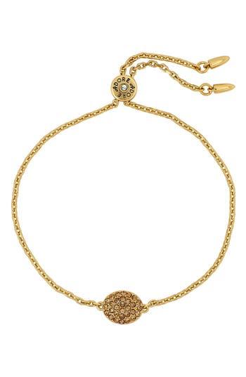 ADORE Pave Crystal Oval Bracelet, Gold