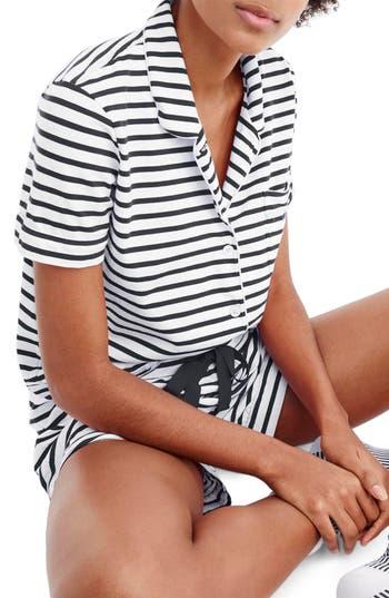 Plus Size J.crew Dreamy Stripe Knit Pajamas, Blue
