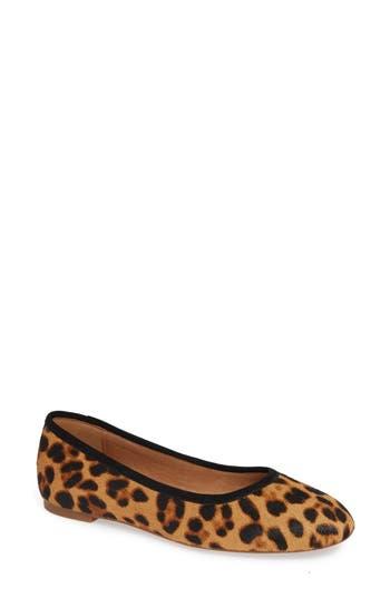 Reid Genuine Calf Hair Ballet Flat, Leopard Hair Calf