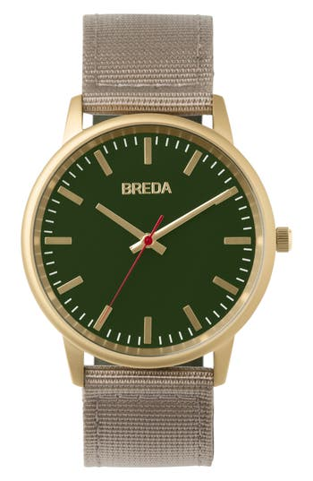 Breda Valor Nylon Strap Watch,