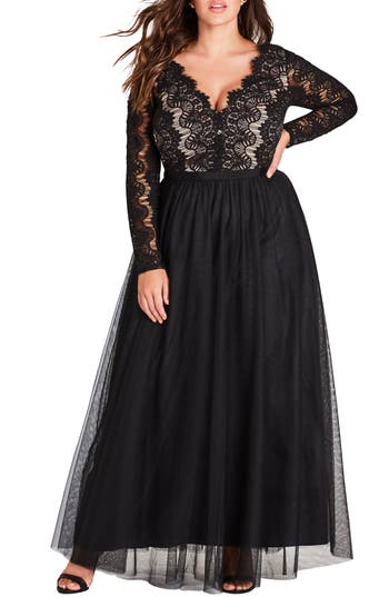 1950s Plus Size Dresses, Clothing and Costumes Plus Size Womens City Chic Rare Beauty Maxi Dress $169.00 AT vintagedancer.com