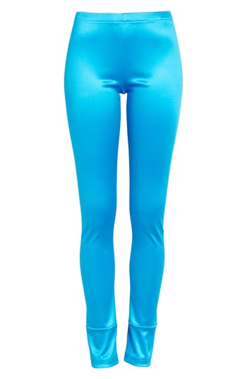 Junya Watanabe Stretch Satin Leggings, Blue