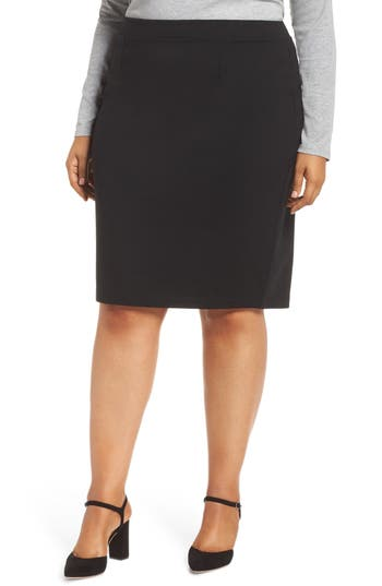 Plus Size Halogen Ponte Pencil Skirt, 8 (similar to 16W) - Black
