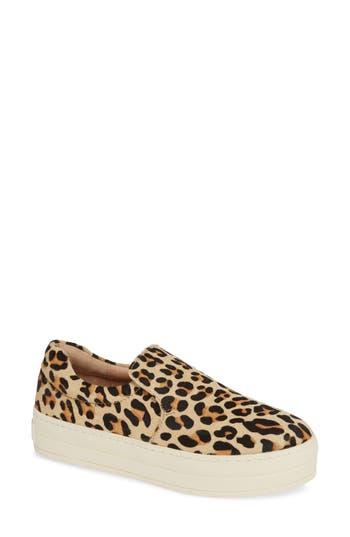 Harry Genuine Calf Hair Slip-On Sneaker, Leopard Calf Hair