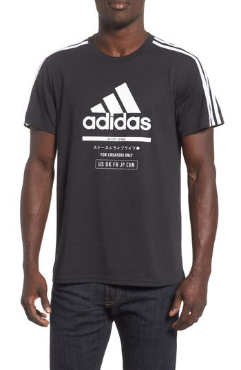 Adidas Classic International T-Shirt, Black