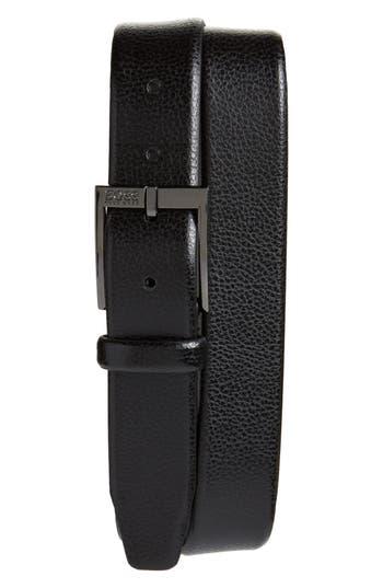 Boss Elloy Leather Belt, Black