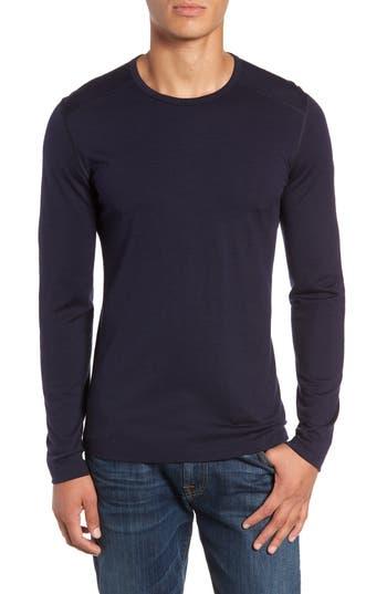 Icebreaker Oasis Long Sleeve Merino Wool Base Layer T-Shirt, Blue