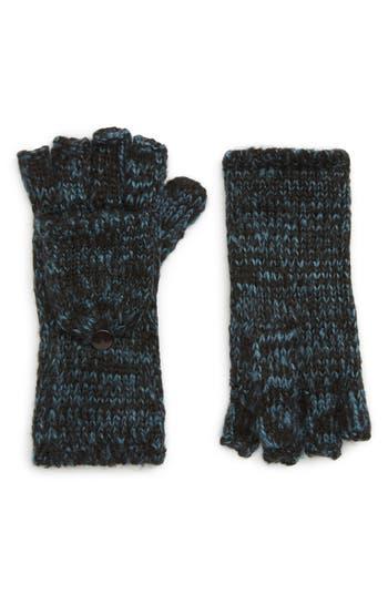 Rebecca Minkoff Subtle Mouline Pop Top Mittens, Size One Size - Blue