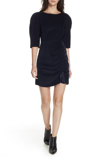 La Vie Rebecca Taylor Corduroy Dress, Blue