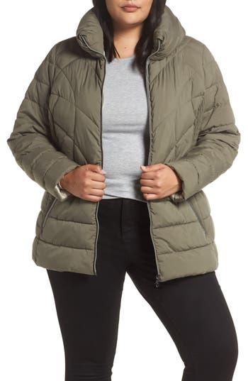 Plus Size Bernardo Microtouch Jacket, Grey