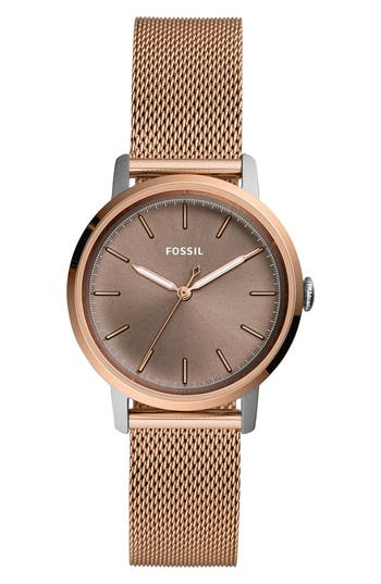 Fossil NEELY MESH STRAP WATCH, 34MM