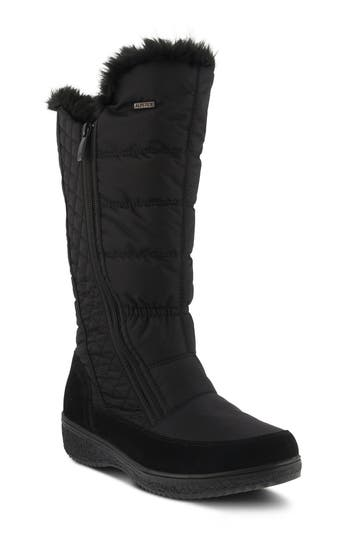 Spring Step Mireya Waterproof Faux Fur Lined Boot - Black