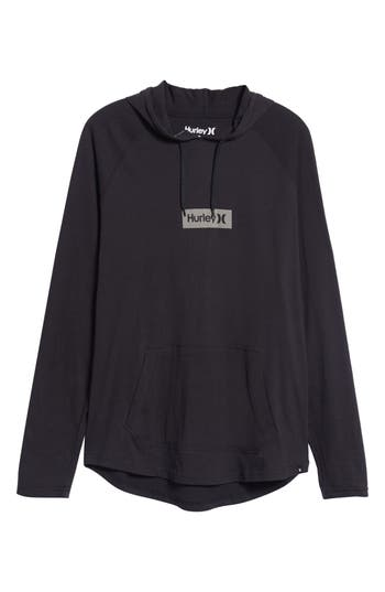 Hurley Premium One And Only Box Logo Pullover Hoodie, Black