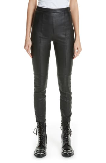 Alexander Wang Leather Leggings, Black