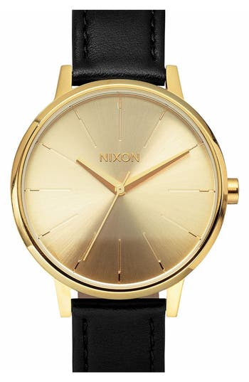 Women's Nixon 'The Kensington' Leather Strap Watch, 37Mm