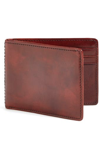 Bosca Small Bifold Wallet - Brown