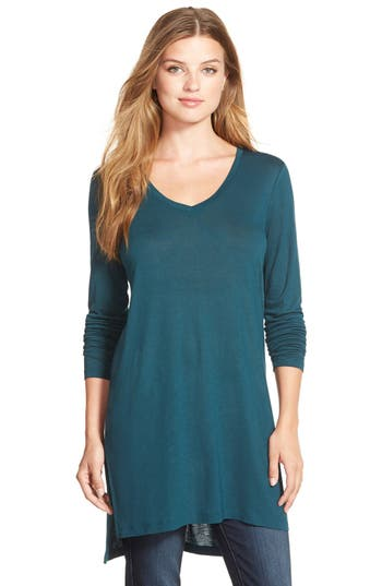 Women's Halogen Long Sleeve Lightweight Tunic, Size XX-Large - Green