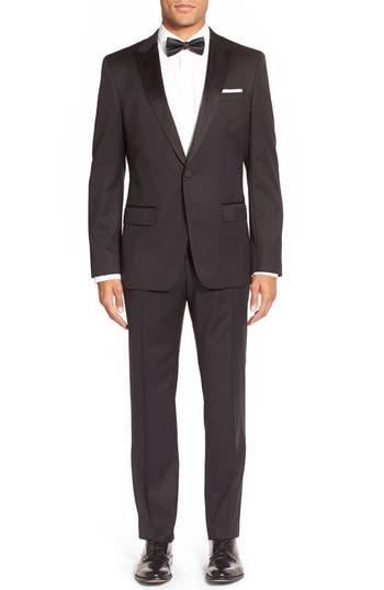 Men's Big & Tall Boss Trim Fit Wool Tuxedo