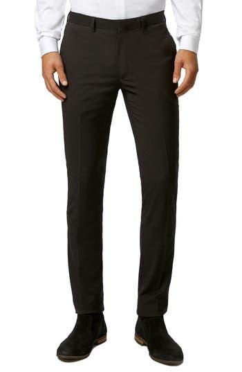 Men's Topman Ultra Skinny Black Suit Trousers