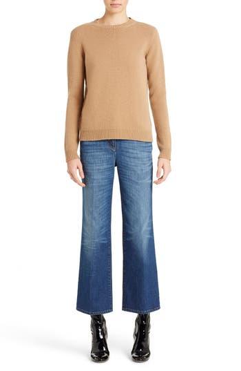 Women's Valentino Studded Crewneck Cashmere Sweater