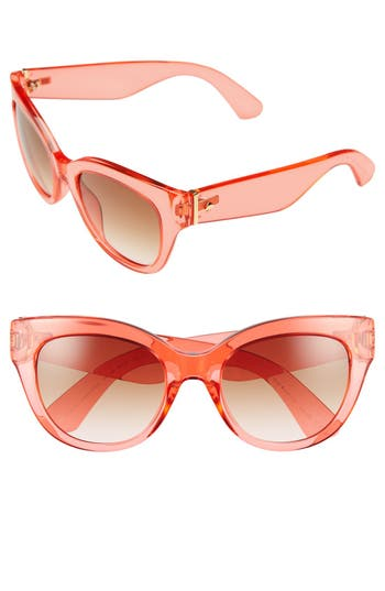 Women's Kate Spade New York 'Sharlots' 52Mm Sunglasses - Red