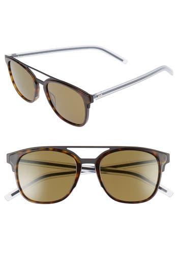 Men's Dior Homme 'Black Tie' 53Mm Sunglasses - Matte Havana Crystal