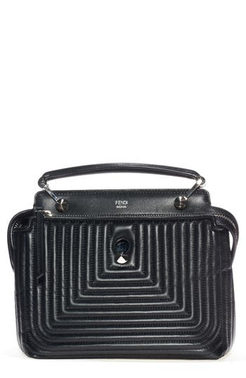 Fendi 'Dotcom Click' Quilted Leather Satchel -