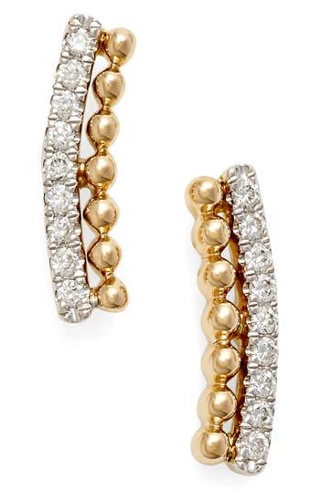 Women's Dana Rebecca Designs 'Poppy Rae' Diamond Ear Crawlers