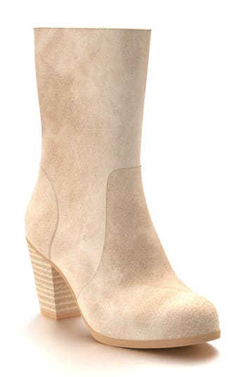 Shoes Of Prey Block Heel Boot B - Beige