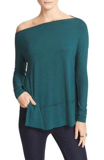Women's Free People 'Luna' Long Sleeve Tee, Size Medium - Green