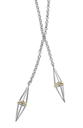 Women's Lagos Lsl Pyramid Station Lariat Necklace