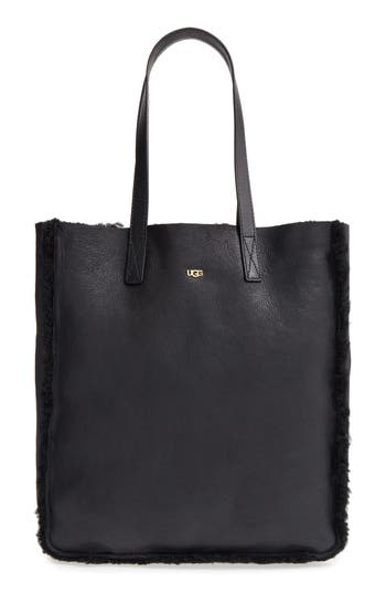 Ugg Claire Genuine Shearling Tote - Black