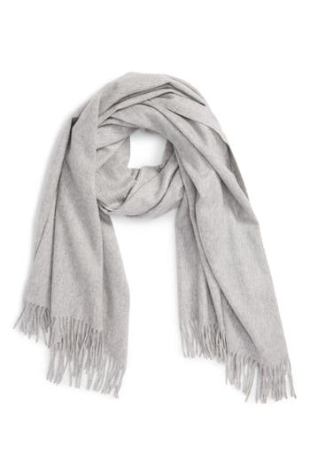 Women's Nordstrom Collection Oversize Cashmere Wrap, Size One Size - Grey